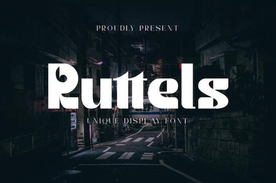 Ruttels Display font free download