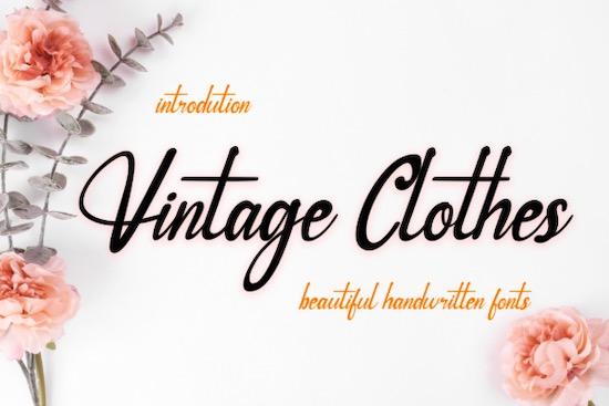 Vintage Clothes font free download