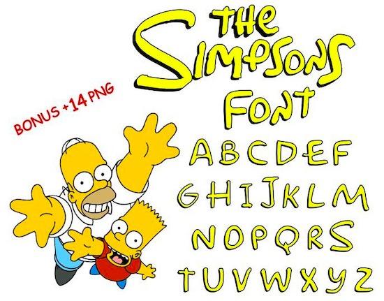 Simpsons font