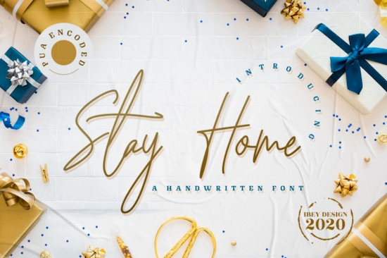 Stay Home font free download