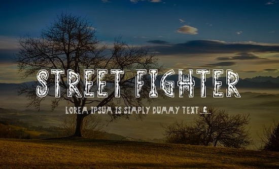 Street Fighter font free download