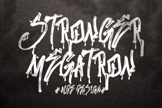 Stronger Megatron font free download