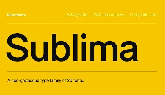 Sublima font free download