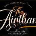 The Airthan font free download