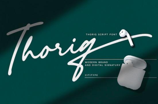 Thoriq font free download