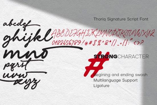 Thoriq font free