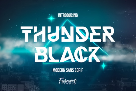 Thunder Black font free download