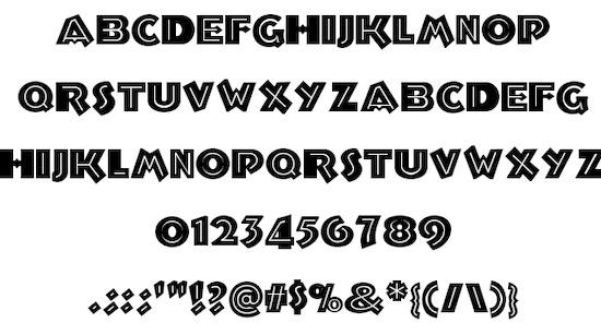 Troglodyte font