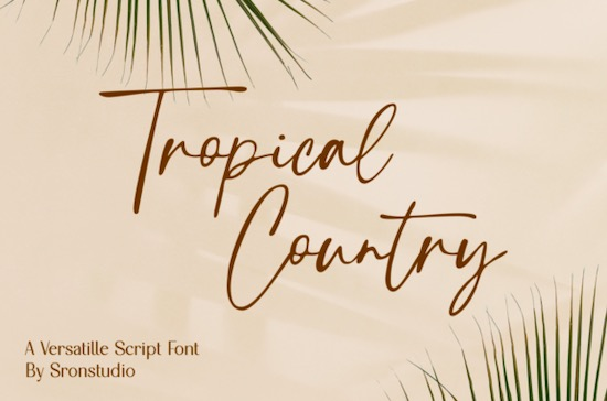 Tropical Country font free download