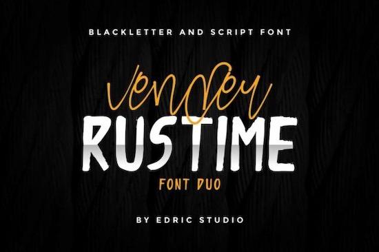 Vender Rustime font Duo free download