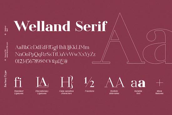 Welland font free