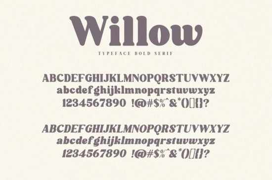 Willow font free download