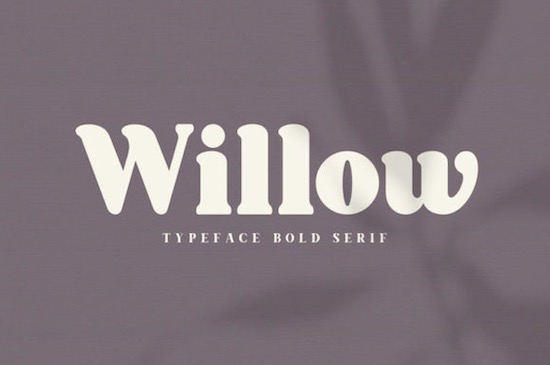 Willow font free