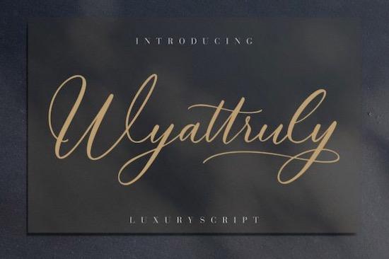 Wyattruly font free download
