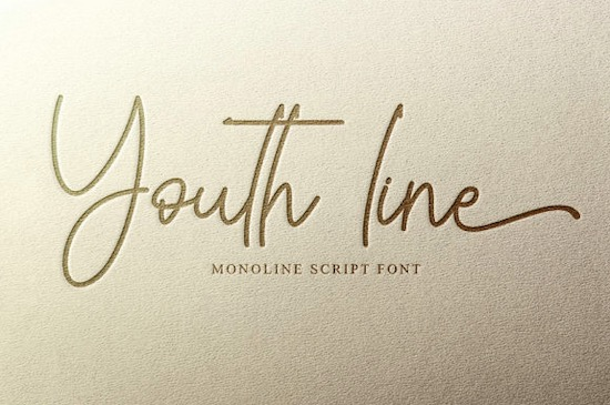 Youth line font free download
