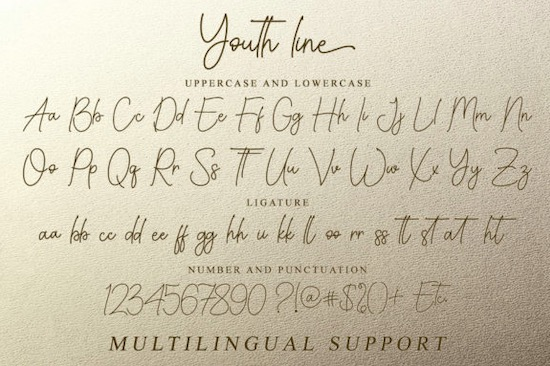 Youth line font free