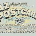 AZ Postcard font free