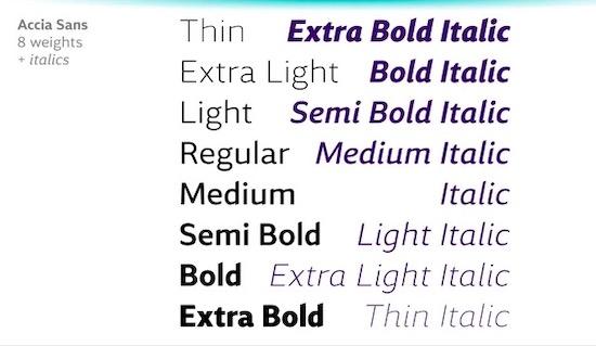 Accia Sans font download
