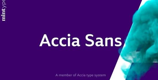 Accia Sans font free download