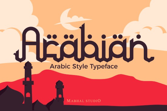 Arabian font free download