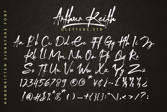 Arthur Keith font download
