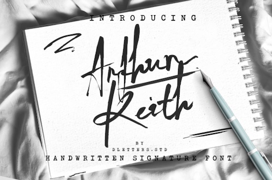 Arthur Keith font free download