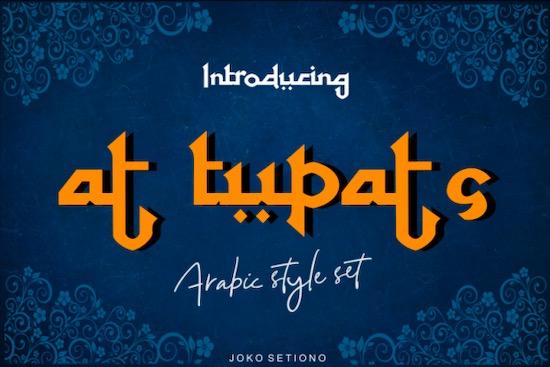 At Tupats font free download