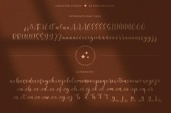 Attena font free