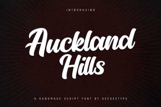 Auckland Hills font free download