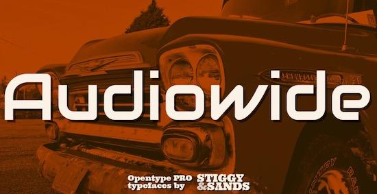 Audiowide font free