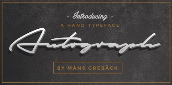 Autograf font free
