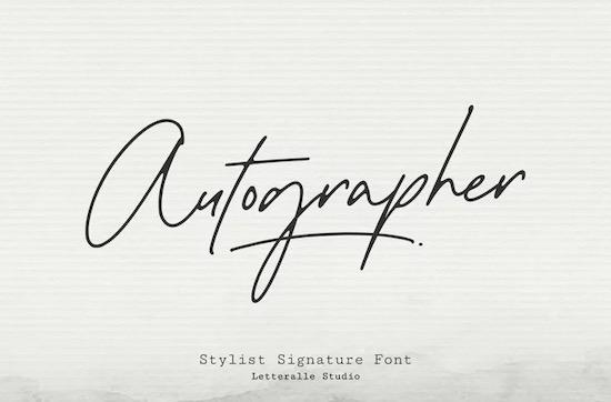 Autographer font free download