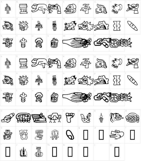 Aztec font free