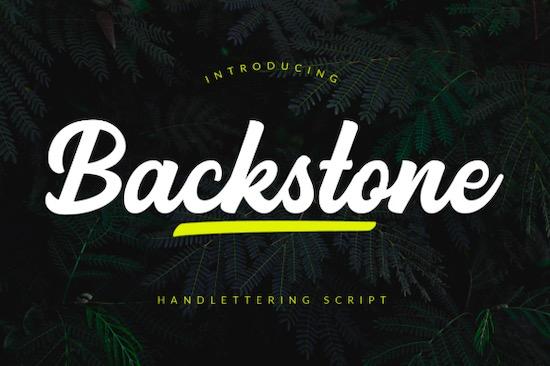 Backstone font free download