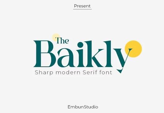 Baikly font free download