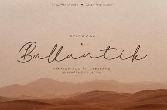 Ballantik font free download