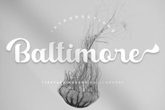 Baltimore font free download