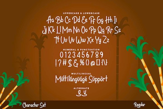 Bandrek font download