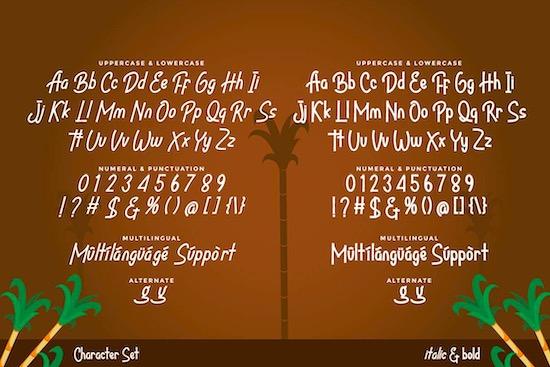 Bandrek font free