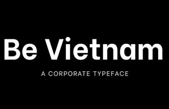 Be Vietnam font family free
