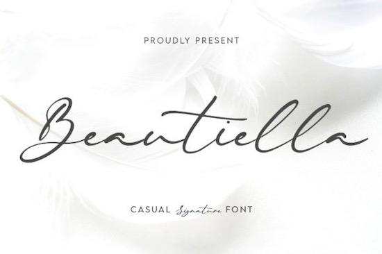 Beautiella font free download