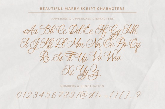 Beautiful Marry font download
