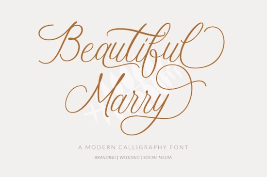 Beautiful Marry font free download