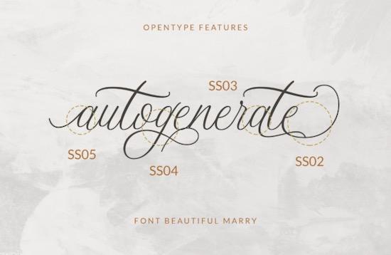 Beautiful Marry font free