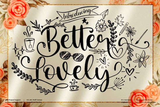 Better Lovely font free download