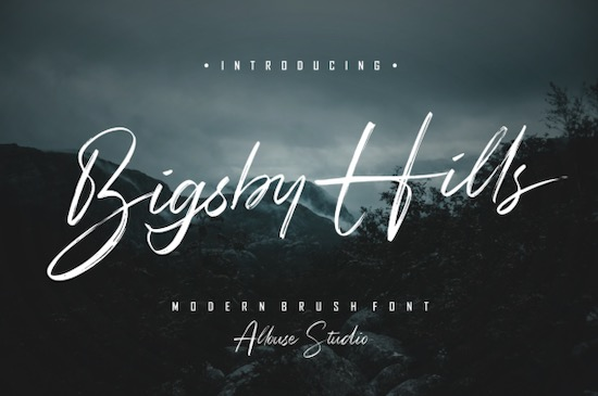 Bigsby Hills font free download
