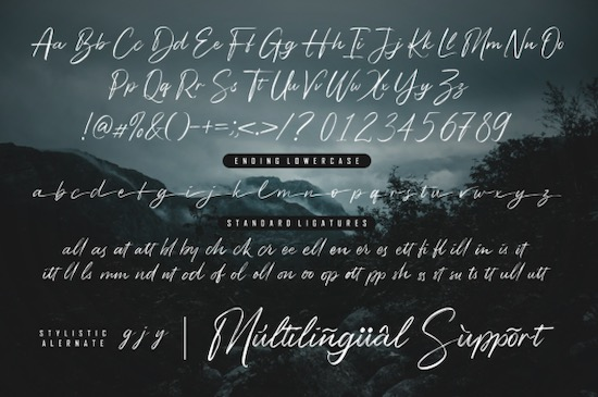 Bigsby Hills font free