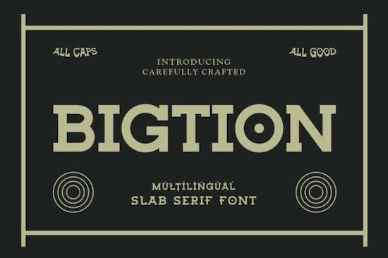 Bigtion font free download