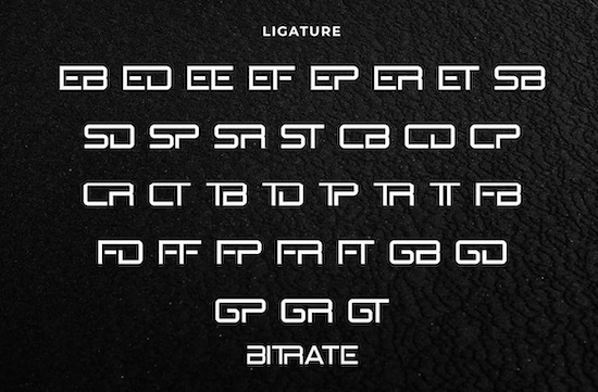 Bitrate font download