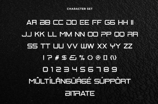 Bitrate font free